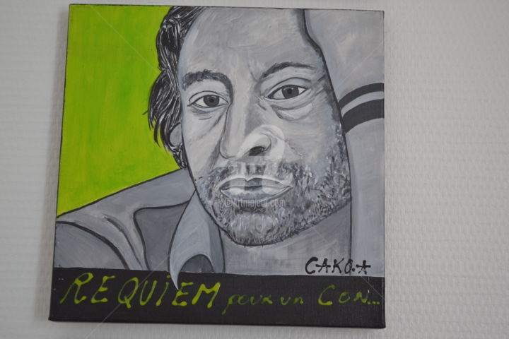"""Painting titled """"GAINSBOURG"""" by Cako-A, Original Art, Acrylic"""