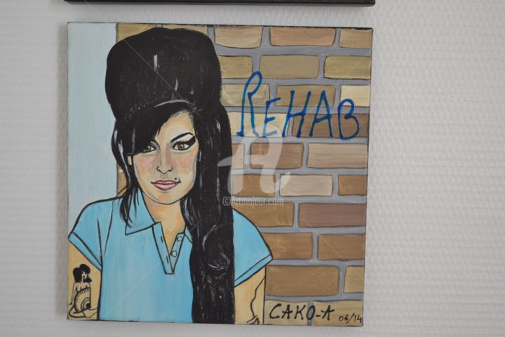 """Painting titled """"Amy Winehouse"""" by Cako-A, Original Art, Acrylic"""