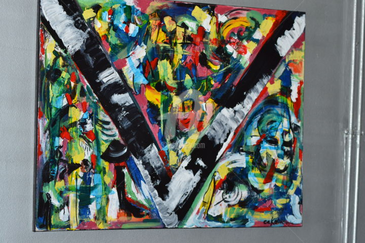 """Painting titled """"raconte moi"""" by Cako-A, Original Art, Acrylic"""
