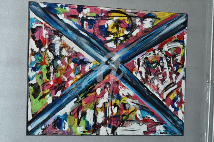 """Painting titled """"Découvre-moi"""" by Cako-A, Original Art, Acrylic"""