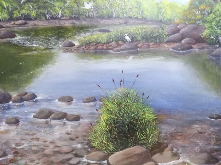 """Painting titled """"Nature.jpg"""" by Oliver Gonzales, Original Art, Acrylic"""