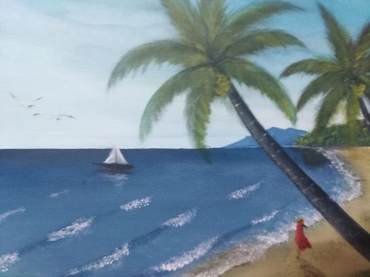 """Painting titled """"sea.jpg"""" by Oliver Gonzales, Original Art, Acrylic"""