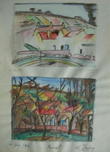 Rural - Painting,  11x8.3 in, ©1999 by Cameleon -