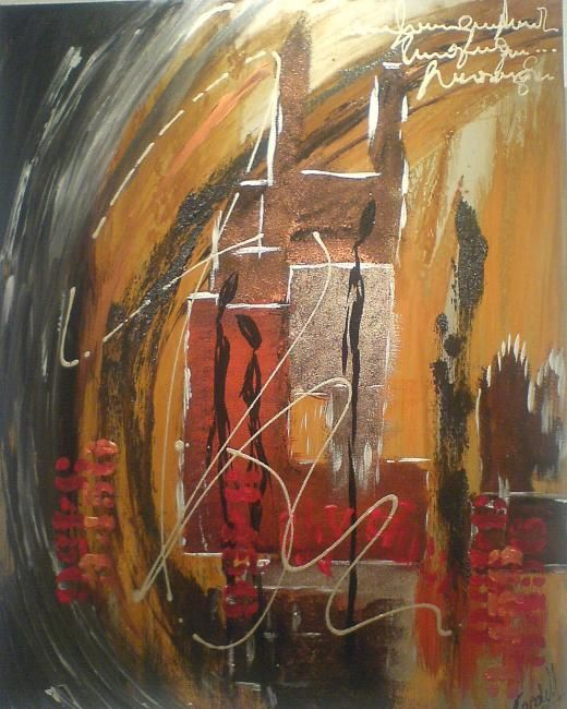 Vision métal 2 - Painting,  19.7x15.8 in, ©2009 by Candell -