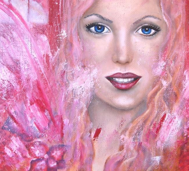 angel rose - Painting,  50x50 cm ©2012 by Елена Кропачева -                        Figurative Art