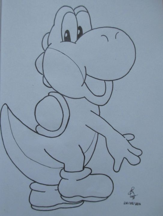 Yoshi Drawing By Cannelle Robert Artmajeur