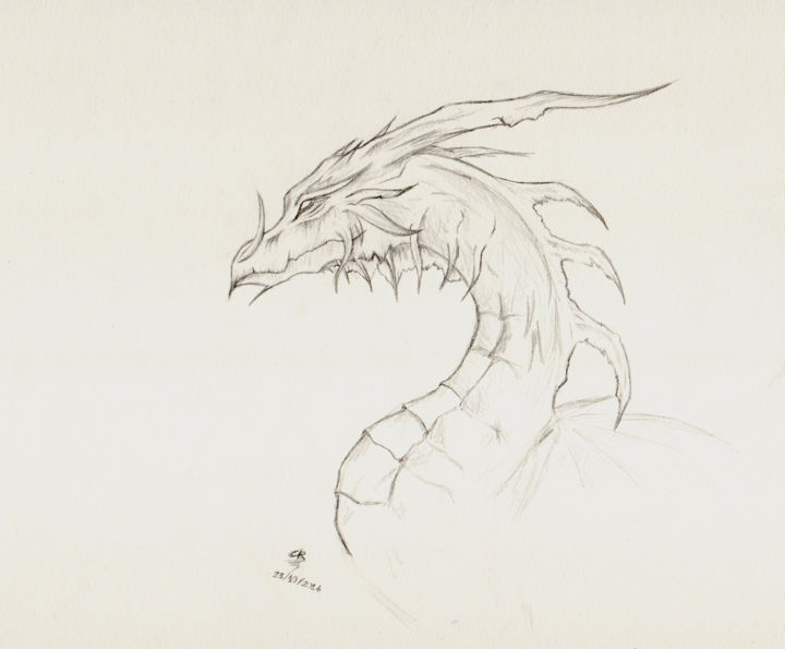 Dragon Drawing By Cannelle Robert Artmajeur