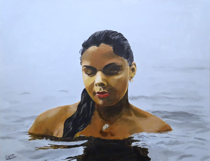 """Painting titled """"Hydro-relaxation"""" by Cano, Original Art, Acrylic"""