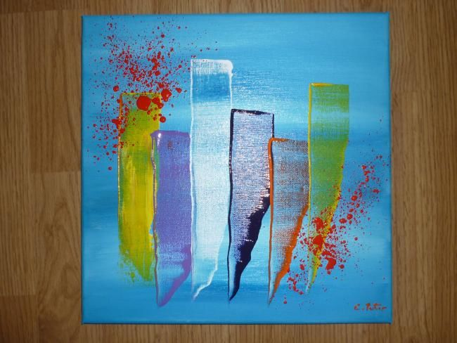 Painting,  30 x 30 cm ©2012 by shougy -  Painting, Contemporary, tableau moderne