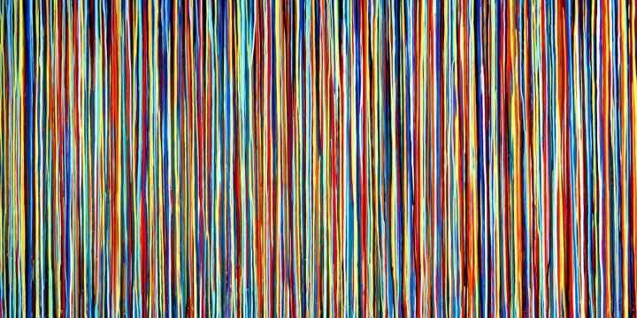 The Emotional Creation #169 - ©  abstract, acrylic, painting, canvas, emotional creation, carla sá fernandes, dripping, stripes, multicolor, extra large, large scale, xl, modern, contemporary, fine art Online Artworks