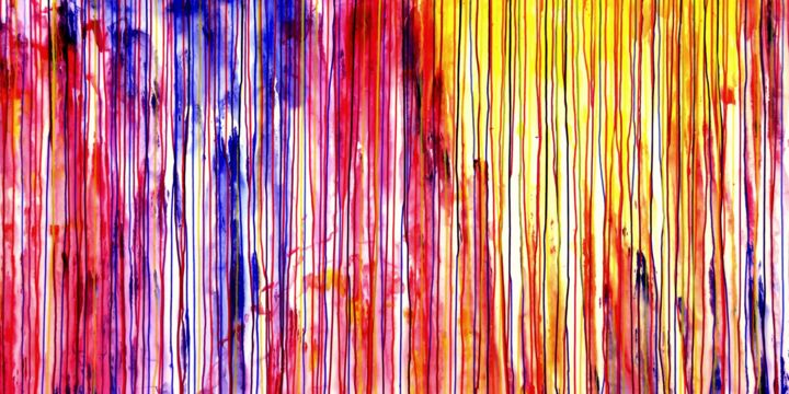 The Emotional Creation #184 - ©  abstract, acrylic, painting, canvas, emotional creation, carla sa fernandes, carlasafe, extra large, xl, large scale, dripping, stripes, colorful, sky, sun Online Artworks