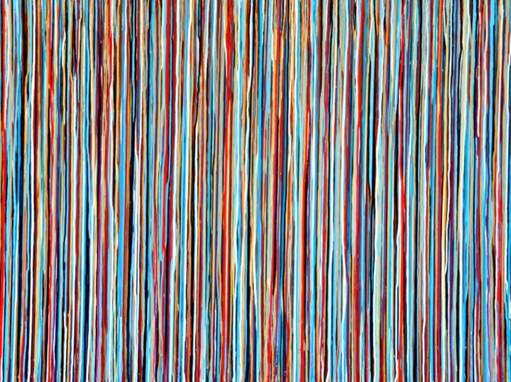 The Emotional Creation #221 - © 2018 abstract, acrylic, painting, canvas, carla sa fernandes, large, large scale, wall art, wall decor, moodern, contemporary, stripes, emotional creation Online Artworks