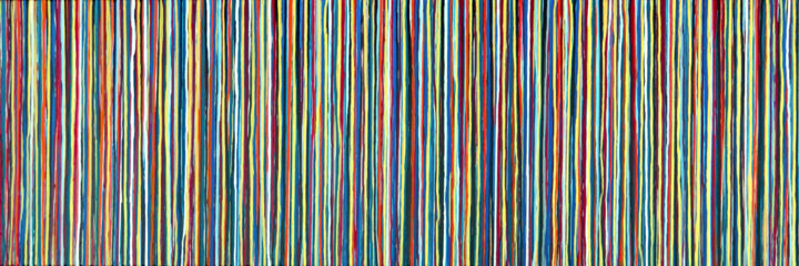 The Emotional Creation #235 - © 2018 abstract, emotional creation, carla sa fernandes, acrylic, painting, canvas, stripes, colorful, metallic, gold, wall art, wall decor Online Artworks