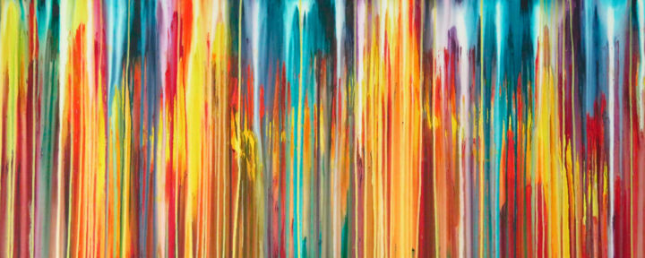 The Emotional Creation #239 - © 2018 abstract, emotional creation, carla sa fernandes, acrylic, painting, canvas, extra large, xl, landscape, seascape, sun, sea, ocean, modern, contemporary, wall art, wall decor, interior design, home decor Online Artworks