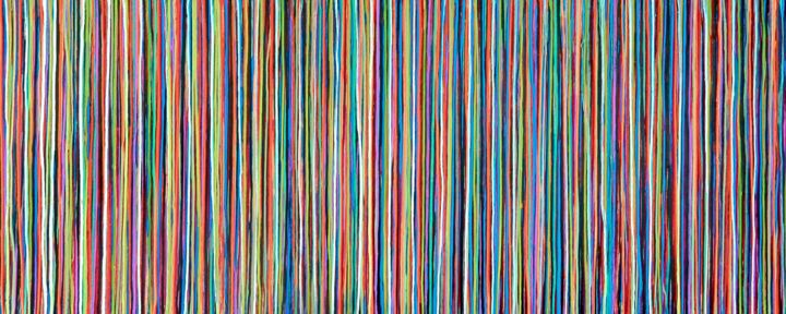 The Emotional Creation #247 - © 2018 abstract, acrylic, painting, canvas, carla sa fernandes, emotional creation, colorful, colorful art, colorful painting, modern, contemporary, xl, extra large, wall art, wall decor, interior design, home decor, abstract art, abstract painting, rainbow, stripes Online Artworks