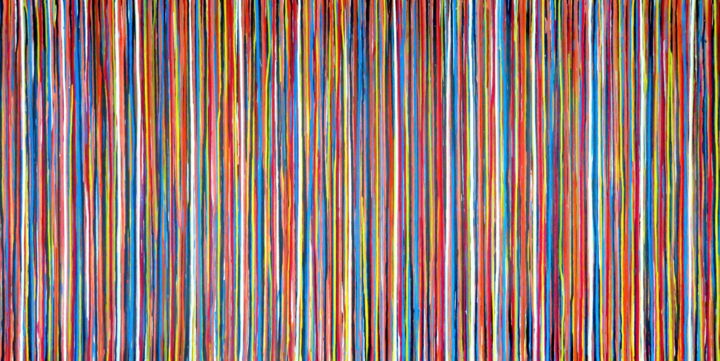 The Emotional Creation #249 - © 2019 abstract, acrylic, painting, canvas, emotional creation, carla sa fernandes, stripes, extra large, xl, colorful, vibrant, wall art, wall decor, interior design, home decor Online Artworks