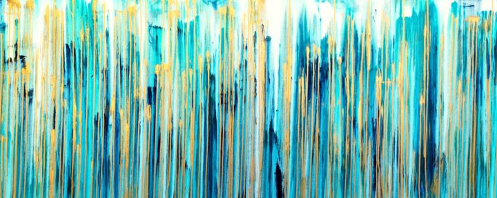 The Emotional Creation #269 - © 2019 abstract, abstract art, abstract painting, acrylic painting, canvas, carla sa fernandes, emotional creation, layered art, pattern, sea painting, seascape, water artwork, abstract artwork, blue, gold, aqua, turquoise, modern art, interior design, home decor Online Artworks