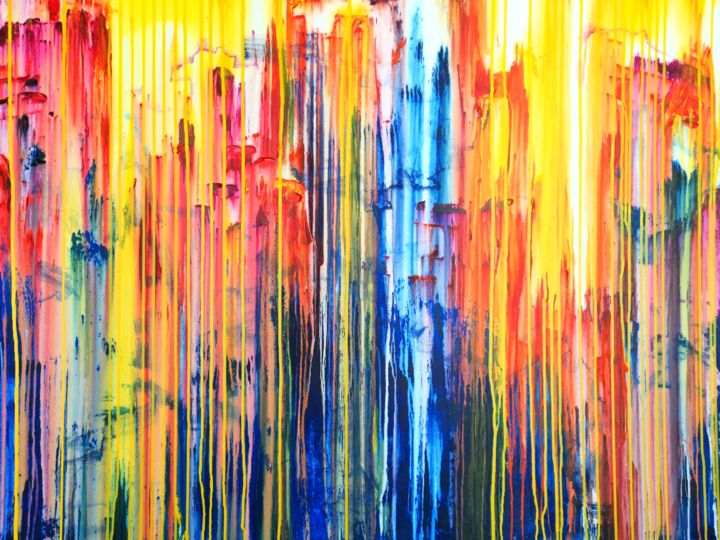 The Emotinal Creation #271 - © 2019 abstract, acrylic, painting, canvas, emotional creation, carla sa fernandes, abstract acrylic painting, layered painting, abstract expressionism, sky, sun, sunset, colorful art, colourful painting, wall art, wall decor, modern art, contemporary painting Online Artworks