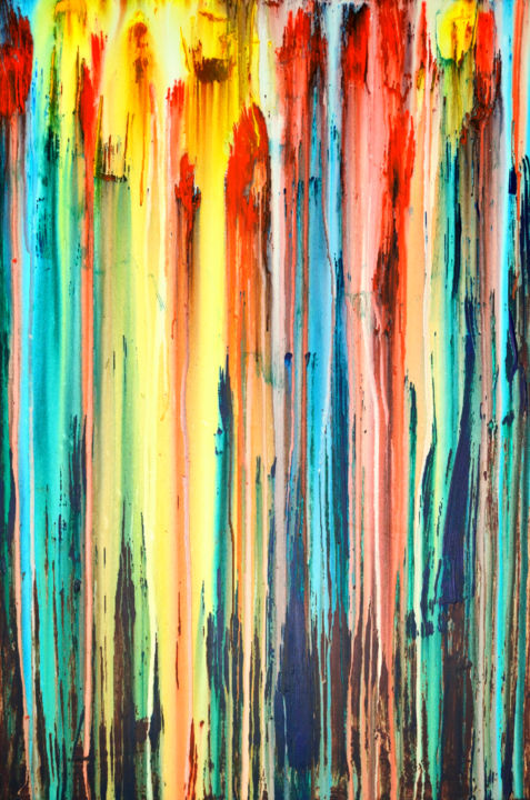 """Painting titled """"A Crush on Color (#…"""" by Carla Sá Fernandes, Original Art, Acrylic Mounted on Stretcher frame"""
