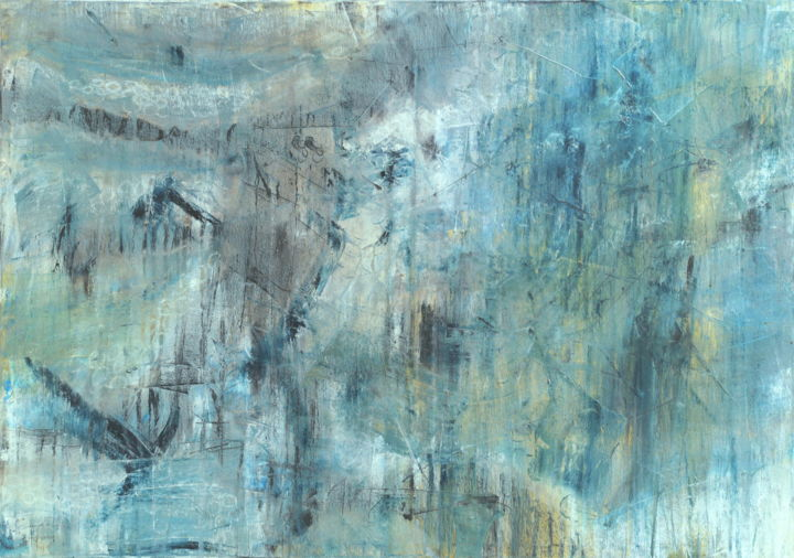 The Barely Visible - © 2014 original, abstract, oil, oil pastel, painting, canvas, carla sa fernandes, barely visible, abstrait, huile, peinture Online Artworks