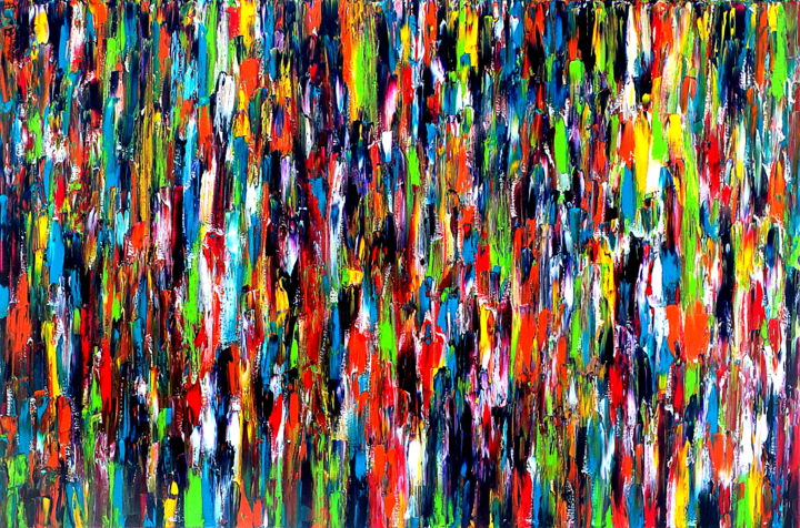 All In #7 - © 2015 original, abstract, art, painting, oil, canvas, all in, Carla Sa Fernandes, texture, impasto, large, fine art, modern, contemporary Online Artworks