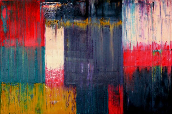 The Basis VIII - ©  abstract, oil, painting, canvas, Carla Sa Fernandes, the basis, impasto, texture, modern, contemporary, fine art Online Artworks
