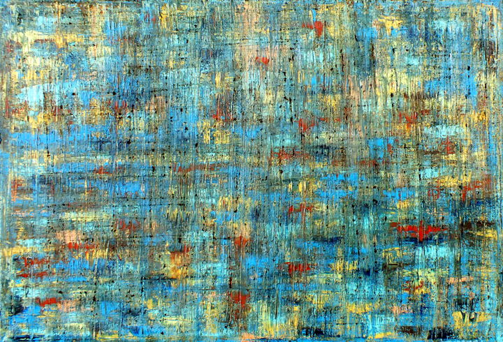 """Painting titled """"Variegated No.1 (CS…"""" by Carla Sá Fernandes, Original Art, Oil Mounted on Stretcher frame"""