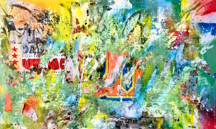 """Painting titled """"Circus"""" by Carlo Inglese, Original Art, Acrylic"""