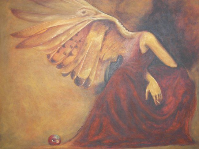"""Painting titled """"Heaven and Hell"""" by Carlo Juntado, Original Art,"""