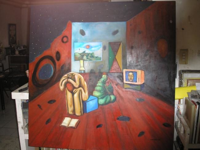 """Painting titled """"conversations with…"""" by Carlo Juntado, Original Art,"""