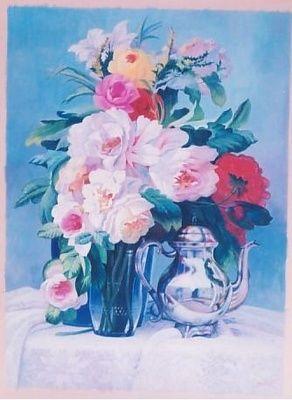 """Painting titled """"still life- flowers"""" by Cee, Original Art,"""