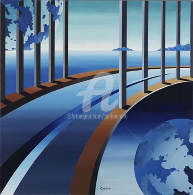 """Painting titled """"Odissea 2056"""" by Carlos Cairo, Original Art, Acrylic"""