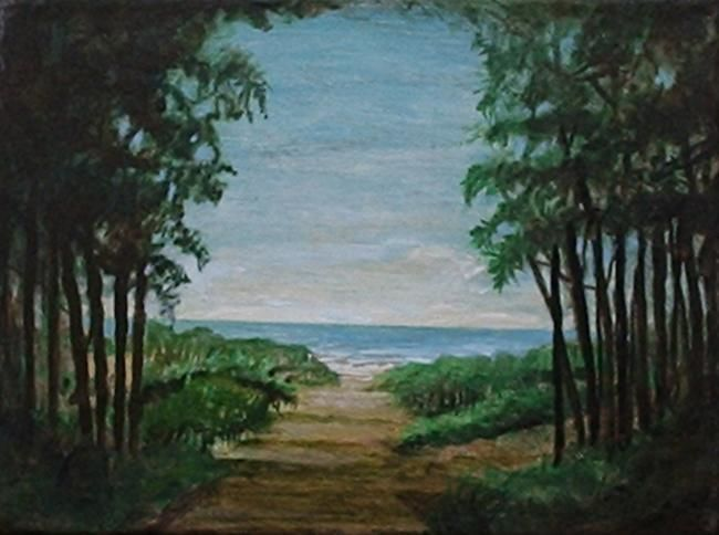 Mar de la Pampas - Painting,  24x18 cm ©2005 by Carlos Masoch -