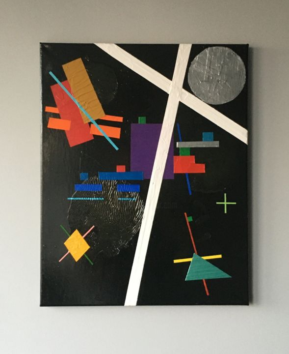 """Painting titled """"Composition IX"""" by Carlo Zoltan Orjales, Original Art, Acrylic"""
