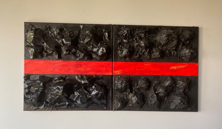 """Painting titled """"Volcano Rock"""" by Carlo Zoltan Orjales, Original Art, Acrylic"""