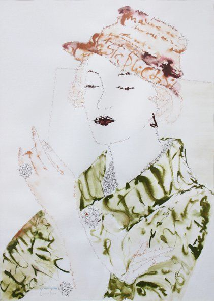 """Drawing titled """"FigurationFeminine…"""" by Carmen Bayer, Original Art, Other"""