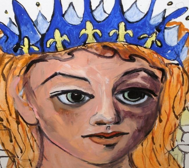 """Painting titled """"ONE HUNDRED CROWNS"""" by Carmen C Cordero, Original Art,"""