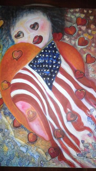"""Painting titled """"Love's in the Air I"""" by Carmen C Cordero, Original Art, Oil"""