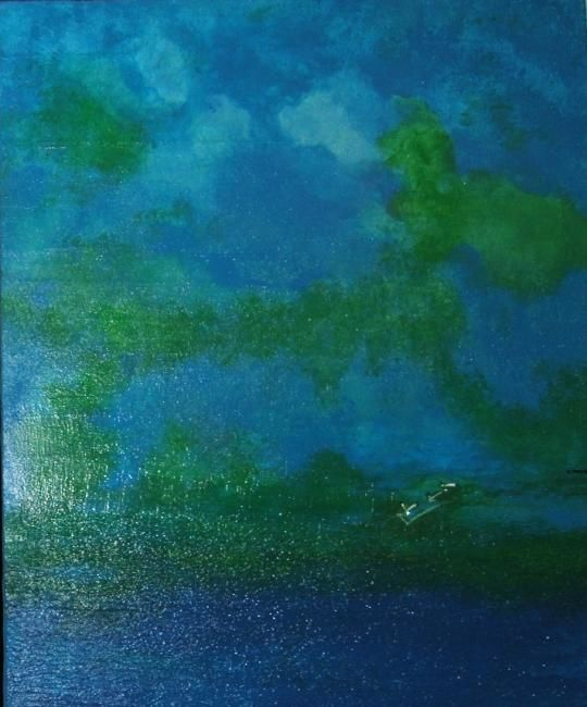 MER DU SUD - Painting ©2009 by Carmen Manno -