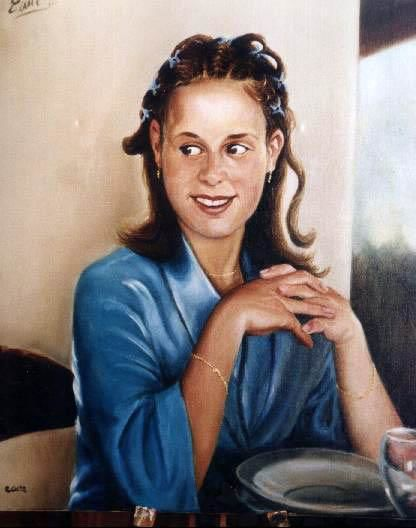 Portrait of Blanca - Painting,  50x70 cm ©2004 by Emil Gutman -