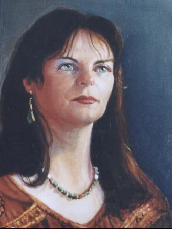 Portrait of Marta - Painting,  20x30 cm ©2004 by Emil Gutman -
