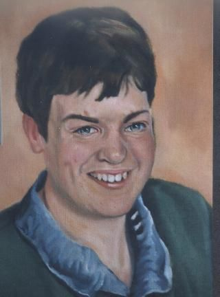 Portrait of young Goetheer - Painting,  40x50 cm ©2004 by Emil Gutman -
