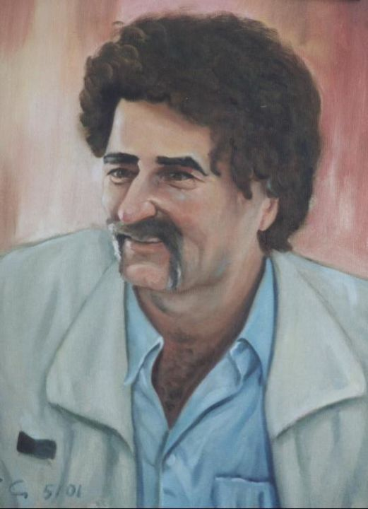 Portrait of a Greek man - Painting ©2006 by Emil Gutman -