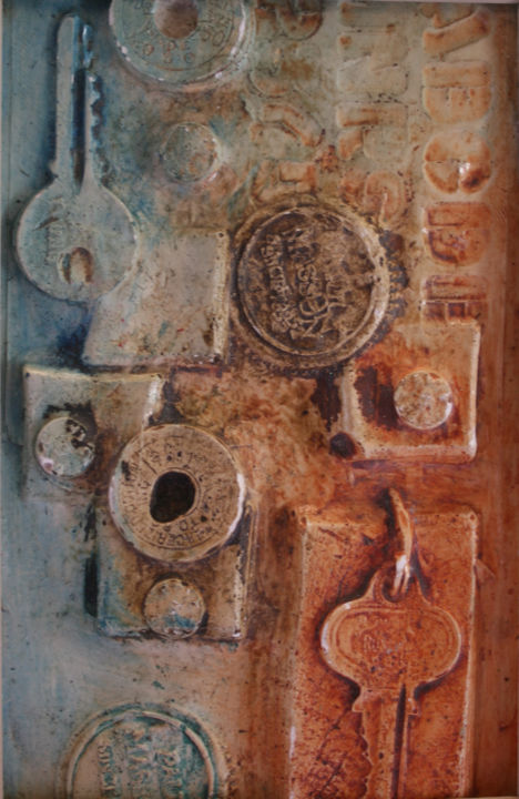 """Collages titled """"Hidden Places"""" by Carol Lorac Young, Original Art,"""