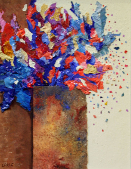 """Collages titled """"wild-flowers-large"""" by Carol Lorac Young, Original Art,"""