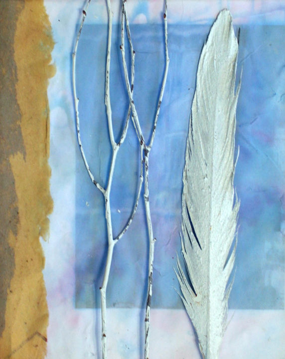 """Collages titled """"quietly"""" by Carol Lorac Young, Original Art,"""