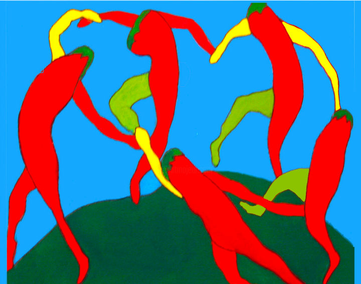 """Painting titled """"Dance of The Red Ho…"""" by Carol Lorac Young, Original Art,"""