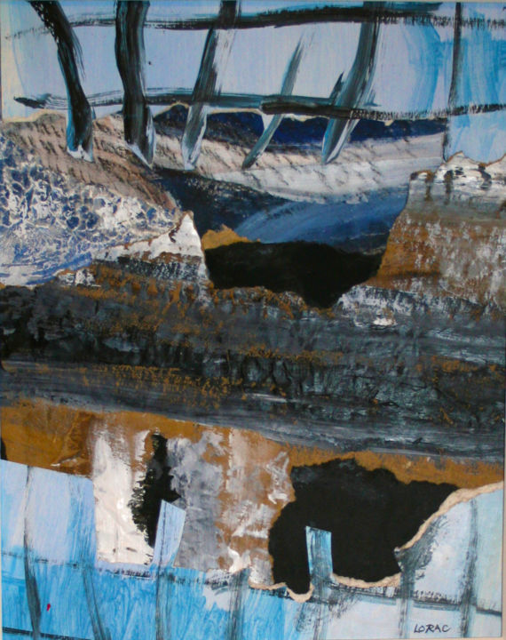 """Painting titled """"Ghost Ship"""" by Carol Lorac Young, Original Art,"""