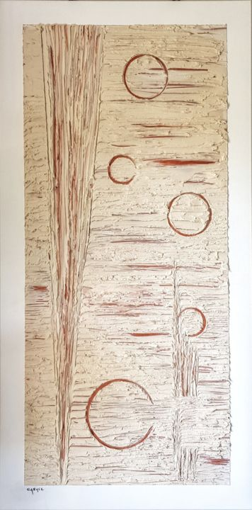 Voie Lactée - Painting,  39.4x19.7x1.2 in, ©2020 by Casal'Art -                                                                                                                                                                                                                                                                                                                  Abstract, abstract-570, Abstract Art, Galaxie, univers, spiritualité