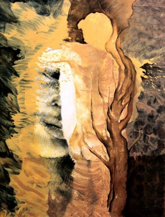 Qué hemos hecho - Painting,  35.4x27.6x1 in, ©1996 by Patricia Casanova -                                                                                                                          Abstract, abstract-570